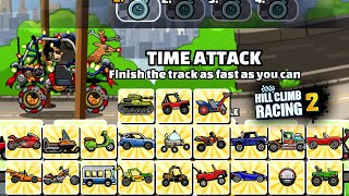 【New】Hill Climb Racing 2 - TRACKDAY New Team Event ALL VEHICLES