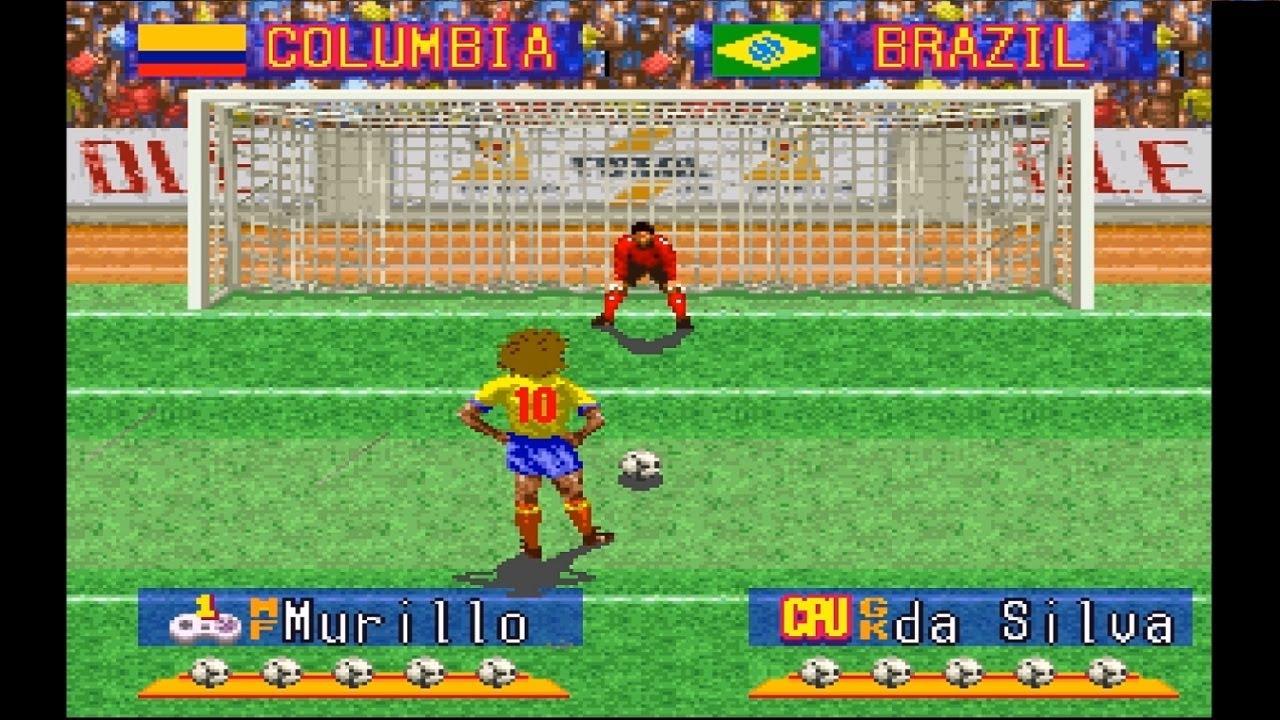International Superstar Soccer Deluxe SNES 1995 Penalty