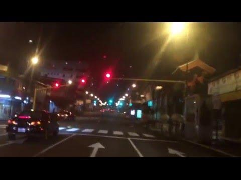 Driving San Jose Costa Rica At Night. Manejando San jose de noche
