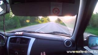 Обучение вождению на машине ученика