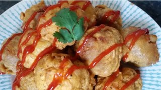 Potato filling Mushroom pakora for iftar by Delicious food recipes