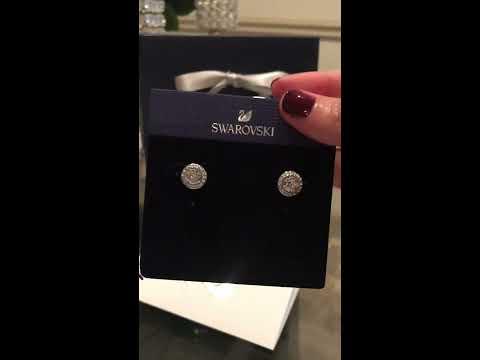 unboxing my Swarovski Angelic pierced earrings