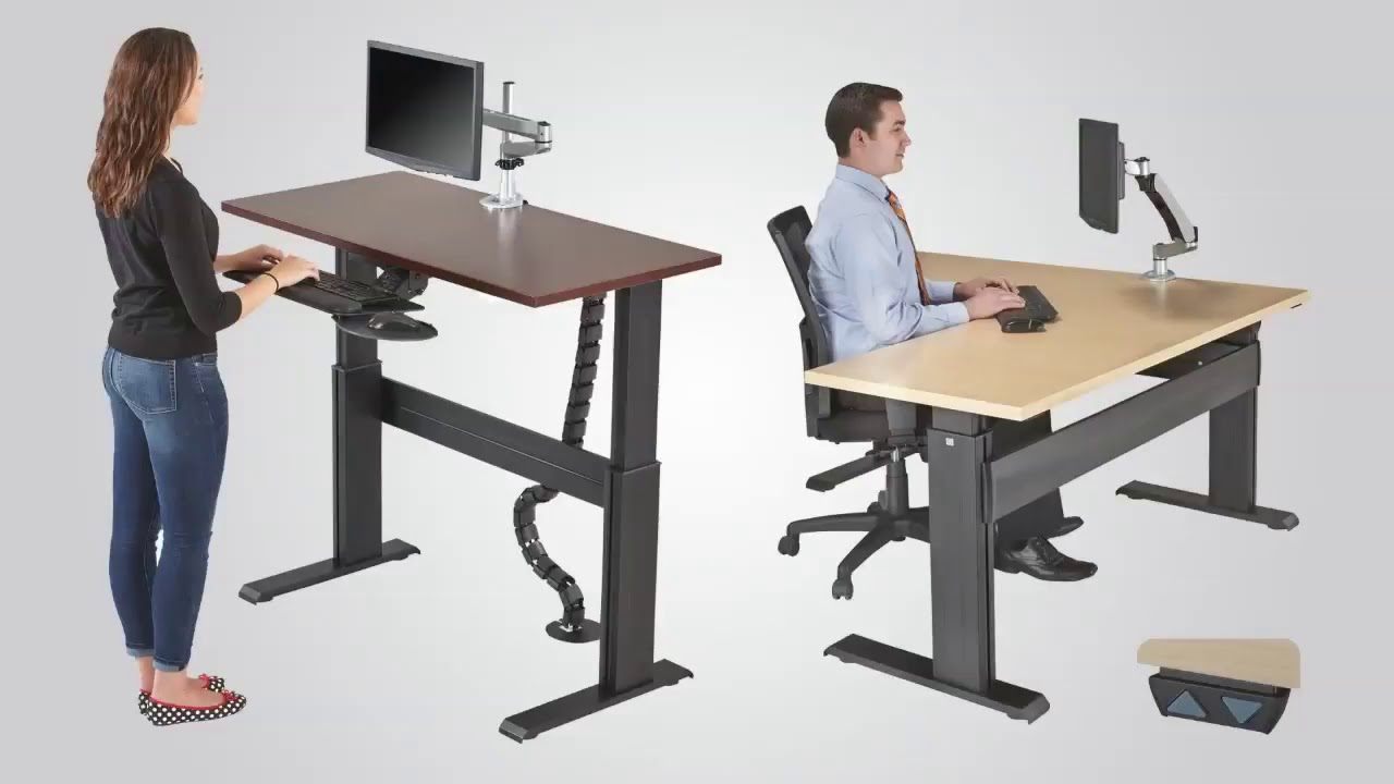 Electric Height Adjustable Table - YouTube