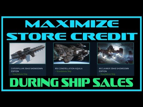 Star Citizen Ship Sale | Getting The Most From Store Credit and Buyback Token