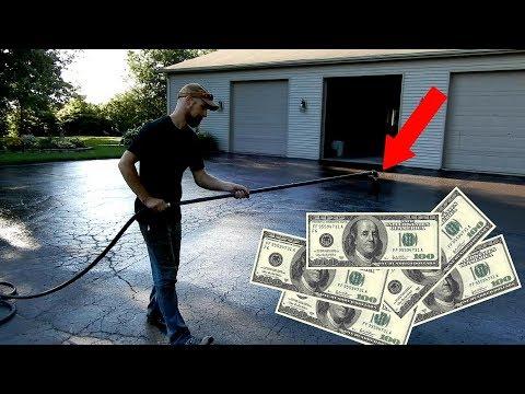 ASPHALT SEALCOATING!   MAKING MONEY 💵 💵 💵