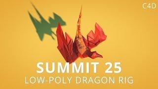 Summit 25 - Low-Poly Dragon Rig - Cinema 4D
