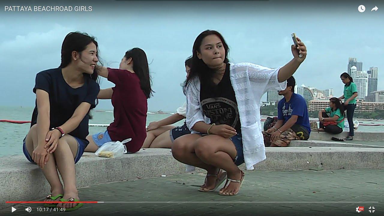 Pattaya beach road girls