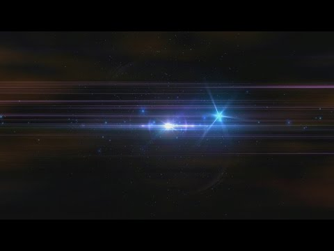 60FPS 1080p Center Flare Space Dust HD Background Animation