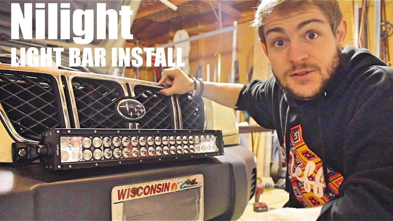 Nilight 22 U0026quot  120w Light Bar Installation