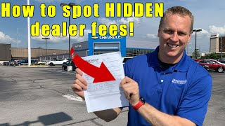 9 fees to NEVER pay a car dealership.  Tips on car buying,  how to negotiate, and how to buy a car. thumbnail