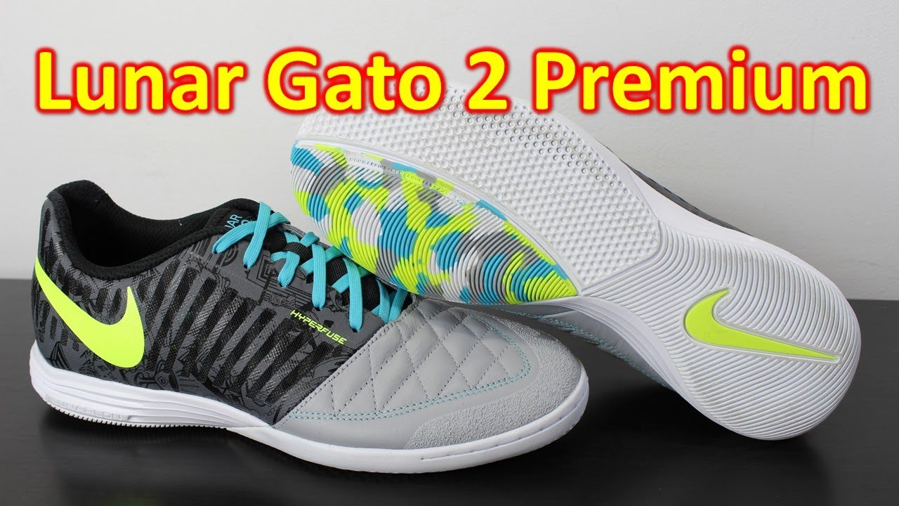Nike FC247 Lunar Gato 2 Premium Wolf Grey/Volt - Unboxing + On Feet. Soccer  Reviews For You