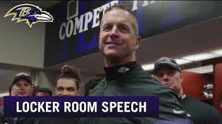 John Harbaugh's Postgame Speech After Big Win Over 49ers | Baltimore Ravens