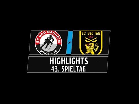 DEL2 Highlights 43. Spieltag | EC Bad Nauheim vs. Tölzer Löwen