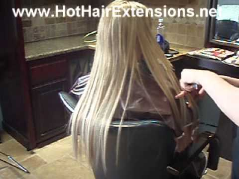 Individual keratin shrink link hair extensions youtube pmusecretfo Images