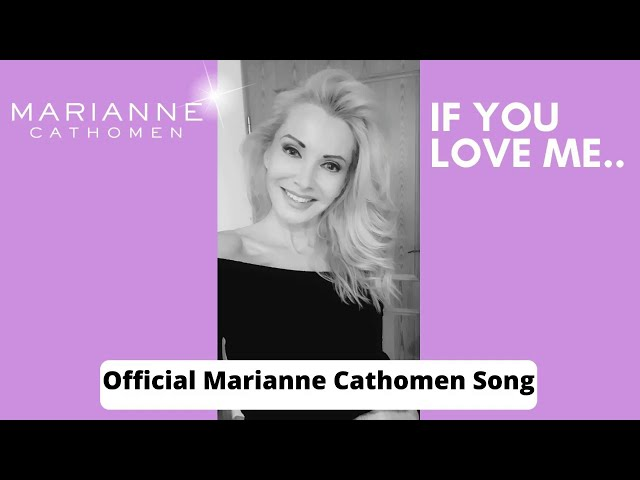Marianne Cathomen - official song - If you love me (Cover) Feb 2021