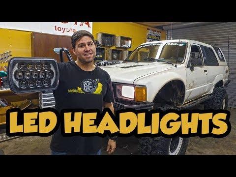 92 toyota pickup headlight wiring harness led headlights in a 1st gen toyota 4runner youtube  led headlights in a 1st gen toyota