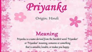 Priyanka Name Meaning In Hindi Priyanka Naam Ka Matlab Kya Hai What Is The Meaning Of Priyanka Youtube Priyanka is a popular female given name in hindu and buddhist cultures. priyanka naam ka matlab kya hai