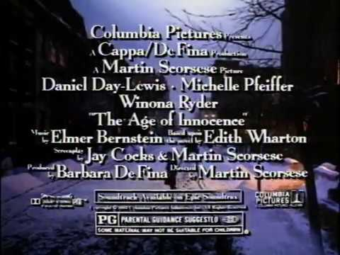 The Age of Innocence 1993 Movie Trailer