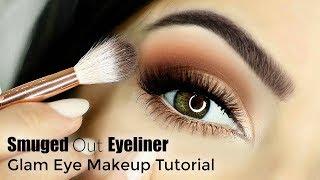 Beginner Friendly Smokey Cat Eye (Blurry/Smudge Eyeliner) Eye Makeup Tutorial