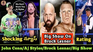 John Cena Don't Like Styles/Big Show,Brock Lesnar,WWE Smackdown Rating/WWE Videos Telugu Lo