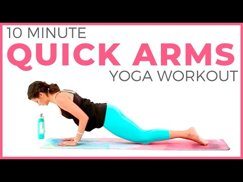 10 minute Power Yoga Workout �� Quick Arms & Abs | Sarah Beth Yoga