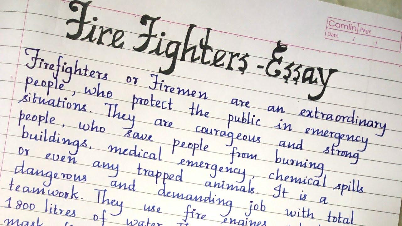 executive fire officer essay