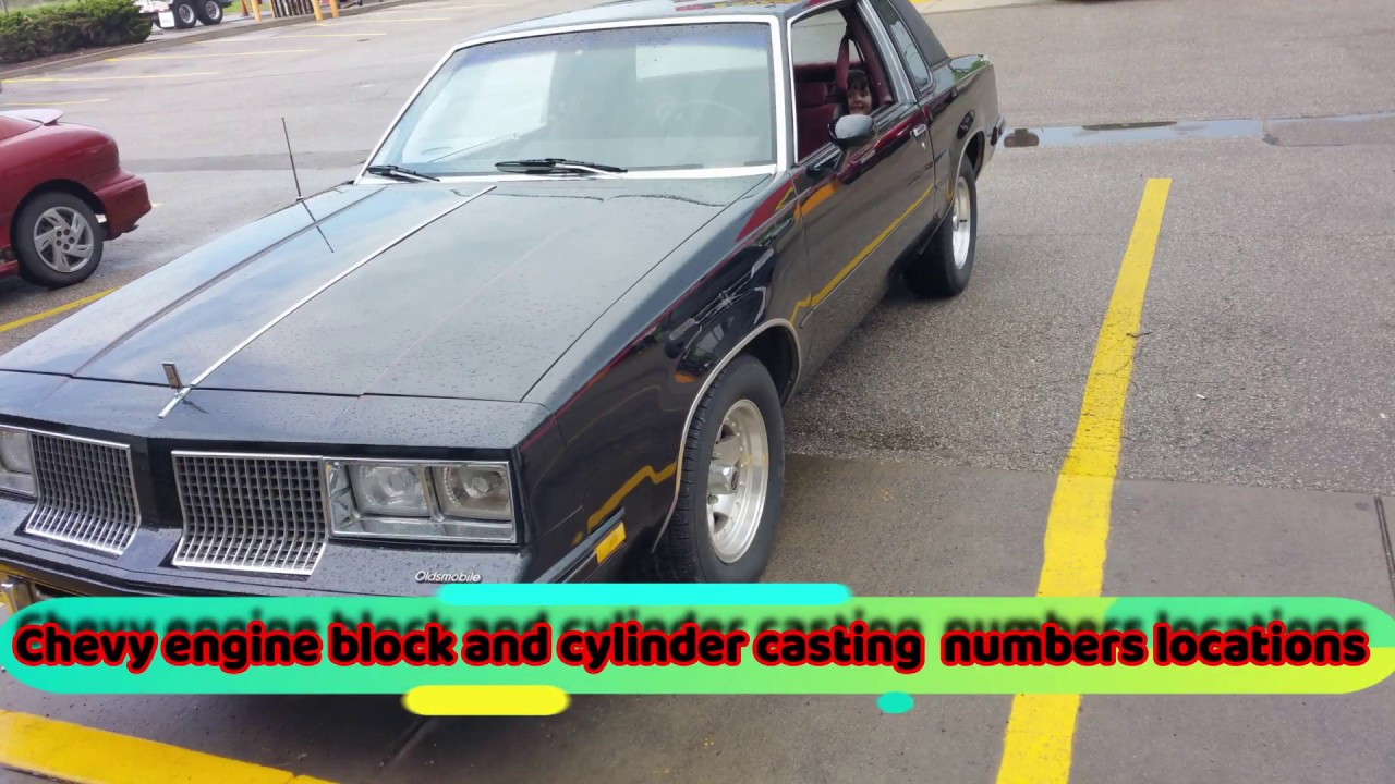 Chevy Engine Block And Cylinder Head Casting Numbers Location