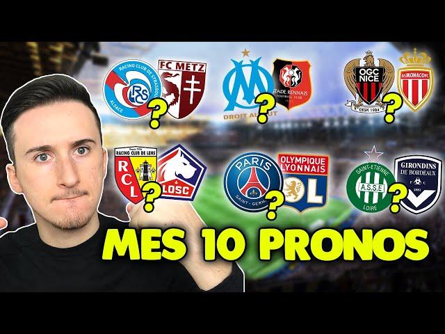Pronostic foot LIGUE 1 : Mes 10 pronostics (Ligue 1) PSG-Lyon, Marseille-Rennes...