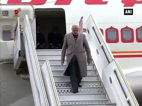 PM Modi arrives at Lille-Lesquin International Airport in France