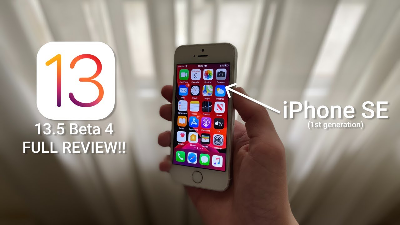 iOS 13.5 Beta 4 On iPhone SE FULL REVIEW!! || Should You ...