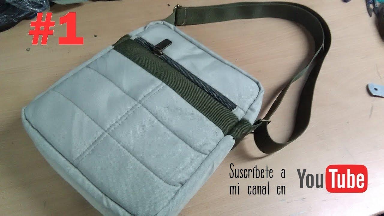 8f190fcf1 COMO CONFECCIONAR UN MORRAL O BANDOLERA ( PARTE 1) how to make a backpack  or shoulder bag 1. bolsos mochilas ...