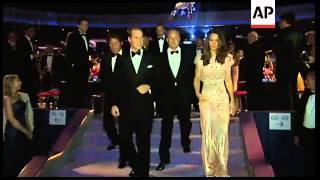 William and Kate at gala dinner for children's charity