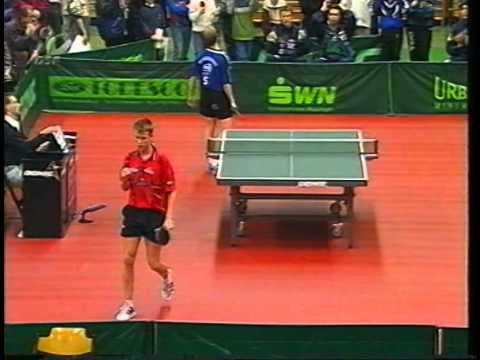 Tischtennis Bundesliga: Peter Nilsson vs Michael Maze Jan 2000