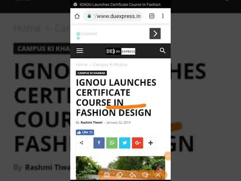 Do Your Cheapest Fashion Design Certificate Course From Ignou Youtube