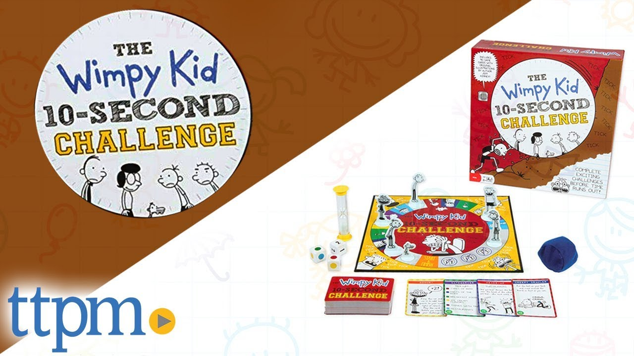 Pressman Toy Diary of a Wimpy Kid 10-Second Challenge Game ...