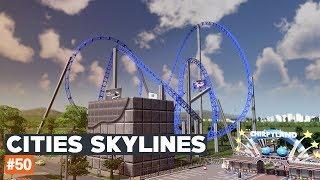 Cities Skylines #50   Rozbudowa parku rozrywki ROLLERCOASTER