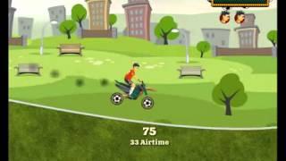 Бесплатные игры онлайн  Футбольный всадник, мотоцикл мультфильм, гонка, игра для мальчиков