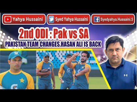 Syed Yahya Hussaini: 2nd ODI : PAKISTAN look favorite   Hasan Ali is back   Yahya Hussaini  