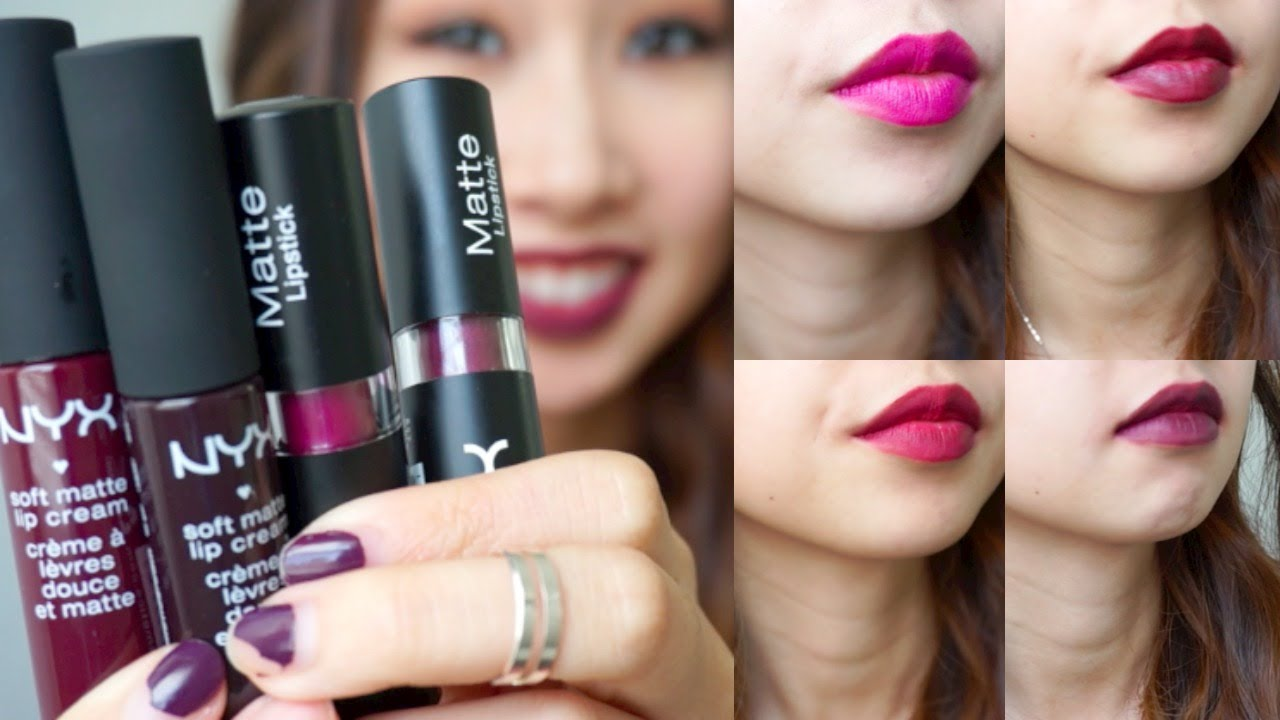 New 2014 Nyx Matte Lip Shades + Swatches ft. dark colors ...