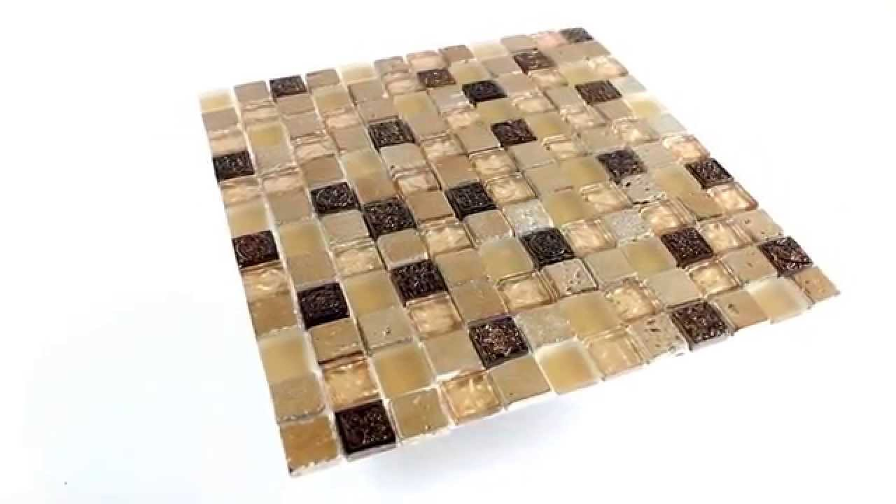 glas marmor mosaik fliesen beige mix youtube