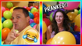 BALLOON PRANK ON MOM! | We Are The Davises
