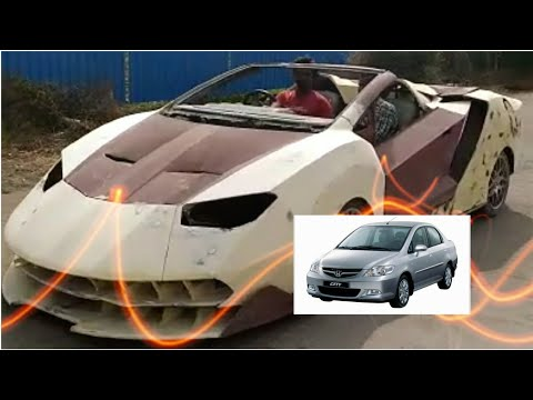 Honda City Modified to Lamborgini : The Lamborgini Project India 2017