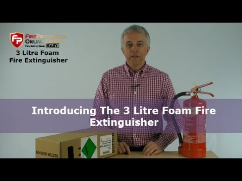 Introducing The 3 Litre Foam Fire Extinguisher