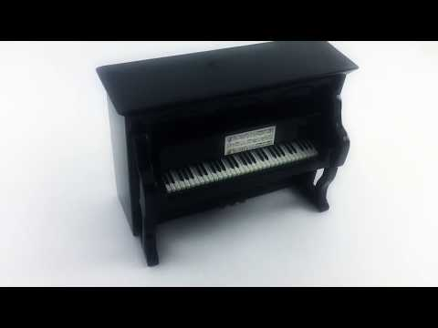 Personalized Upright Piano Music Box with Custom Song and Engraving