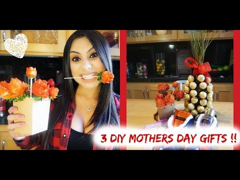 3 DIY MOTHERS DAY GIFT IDEAS! | STRAWBERRY ROSES | PINEAPPLE WINE BOTTLE | & SLIPPERS W/A SURPRISE!