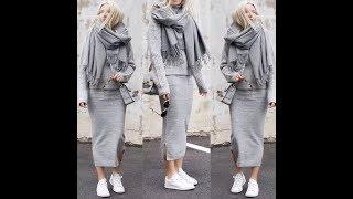 Kalem Etek Kombinleri #1 | Pencil Skirt Outfits #1 Hijab