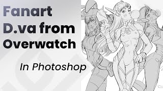 Drawing D.va From Overwatch _ Jesus Conde