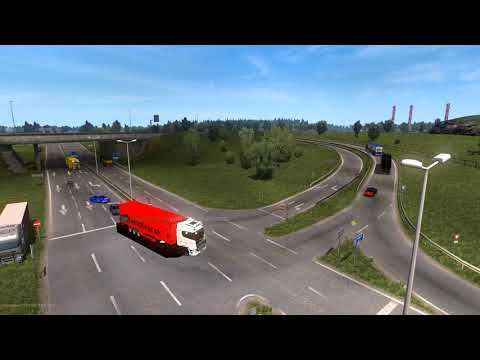 Euro Truck Simulator 2 Multiplayer - Observing The Calais Junction (idiots On The Road)
