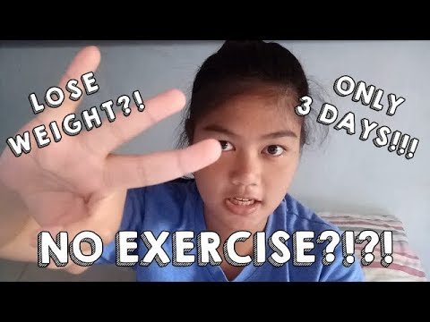 HOW TO LOSE WEIGHT FAST! | 3 DAYS ONLY | NO EXERCISE | MILITARY DIET