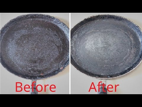 How To Clean Nonstick Tawa At Home | Tip : Cleaning oil layer formed dosa pan |